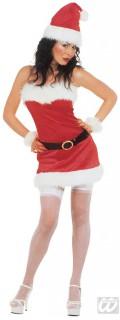 Miss Santa Damenkostüm Weihnachtsfrau rot-weiss