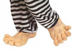 Latex Monster-Füße Kostümzubehör hautfarben