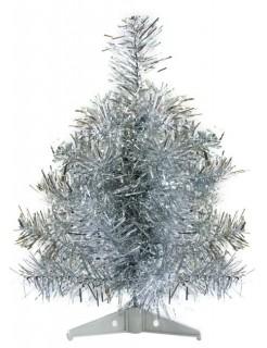 Weihnachtsbaum Dekoration silber 30cm