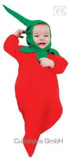 Chilischote Babykostüm rot-grün