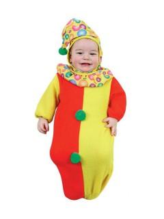 Clown Babykostüm rot-gelb-grün