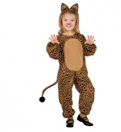 Leopard Kinderkostüm Wildkatze braun-schwarz