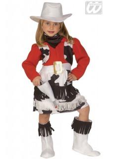 Cowgirl Kinderkostüm Western schwarz-weiss