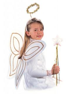 Engelchen Kostüm-Set für Kinder weiss 50x22cm