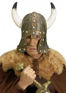 Wikinger Helm Deluxe braun-weiss