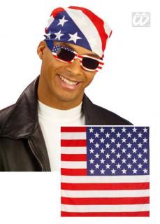 Bandana USA-Flagge Fanartikel blau-weiss-rot