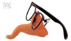 Nasenbrille Rüssel Scherzartikel schwarz-hautfarben