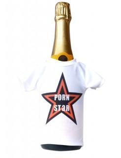 Mini T-Shirt Porn Star weiss-schwarz-rot 14x9cm