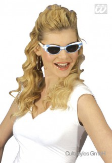 Griechenland Fan Brille Damen weiss-blau
