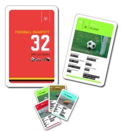 Fussball Quartett Kartenspiel 32-teilig bunt 10x6x2cm