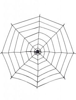 Riesen Spinnennetz mit Spinne schwarz 200cm