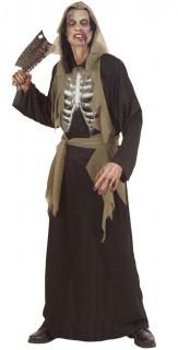 Skelett Halloween-Kostüm Untoter schwarz-braun-weiss