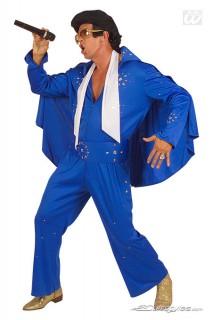 Rock n Roll Kostüm Rockstar blau