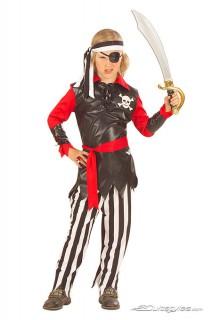 Pirat Seeräuber Kinderkostüm schwarz-weiss-rot