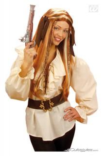 Piratenhemd Kostüm-Zubehör beige
