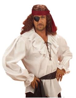 MITTELALTER HEMD PIRAT Piratenhemd Baumwolle weiß Größe M L