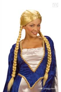 Renaissance Damenperücke Zöpfe lang blond