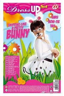 Hase Kostüm-Set für Kinder Häschen 3-teilig bunt