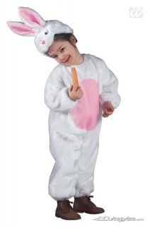 Hase Kinderkostüm Häschen weiss-rosa
