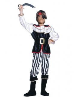 Pirat Kinderkostüm Freibeuter schwarz-weiss