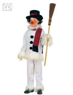 Schneemann Kinderkostüm weiss