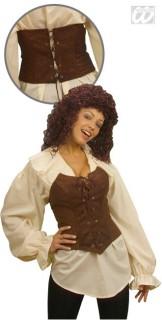 Piraten Corsage M braun