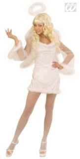Bezaubernder Engel Damenkostüm weiss