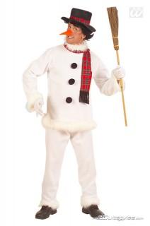 Schneemann Kostüm Weihnachten weiss-schwarz-rot