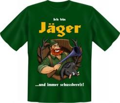 Funshirt Ich bin Jäger... T-Shirt grün-bunt