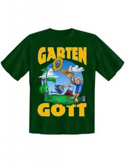 Funshirt Gartengott T-Shirt grün