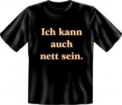 Funshirt Ich kann auch nett sein T-Shirt schwarz