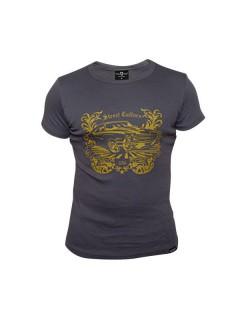 Tollwut-T-Shirt für Herren Motiv Divine grau-gelb