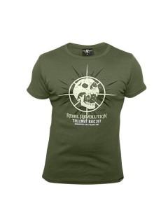 Tollwut-T-Shirt für Herren Motiv Faget grün