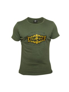 Tollwut-T-Shirt für Herren Motiv Getto grün-gelb