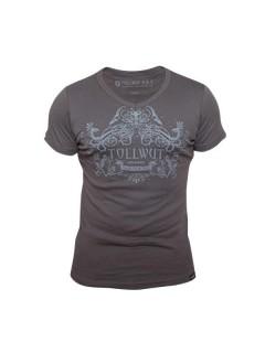 Tollwut-T-Shirt für Herren Motiv Bliss braun-grau