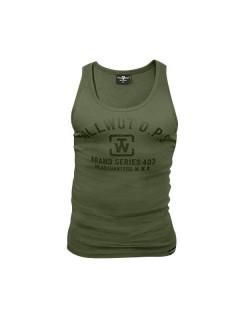 Tollwut Street Wear Tank Top für Herren SLAM oliv-schwarz