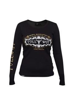 """Tollwut Sweatshirt Streetwear für Damen """"DOUBT"""" schwarz"""