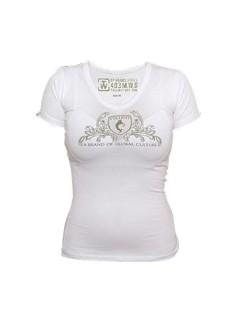 Tollwut-Damenshirt Motiv Toad weiss