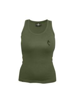 Tollwut-Tanktop für Damen Motiv Squad Soldaten-Oberteil grün