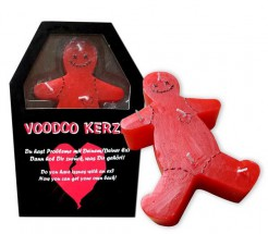 Voodoo Kerze Racheartikel rot 16x8cm