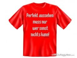 Funshirt Perfekt aussehen... T-Shirt rot
