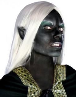 Dunkelelfen Ohren Kostümaccessoire schwarz