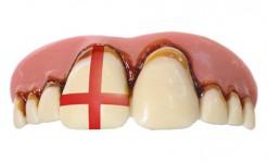 England Fangebiss Fußball hautfarben-rot-weiss