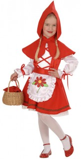 Märchen Kinderkostüm rot-weiss
