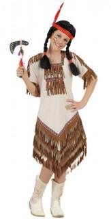 Indianerin Deluxe Kinderkostüm braun-beige
