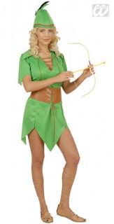 Bogenschützin Mittelalter Damenkostüm grün