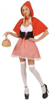 Süsses Rotkäppchen Damenkostüm Märchen rot-weiss-schwarz