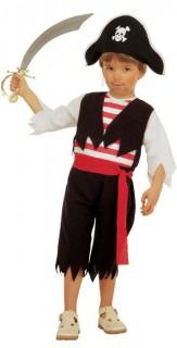 Pirat Kinderkostüm schwarz-weiss-rot