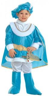 Prinz Kinderkostüm blau-weiss-gold