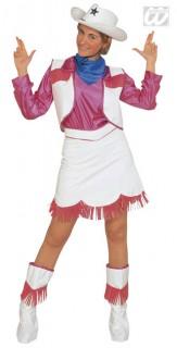 Cowgirl Kostüm M pink-weiss-blau